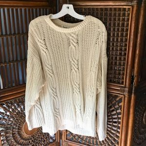 Oversized Vintage Knitted Sweater Long Sleeves
